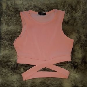 Missguided pink crop top